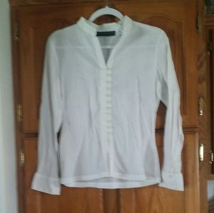 EUC -  white top with cute front button details